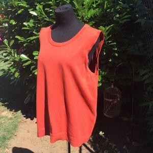 Burnt orange knit tank top